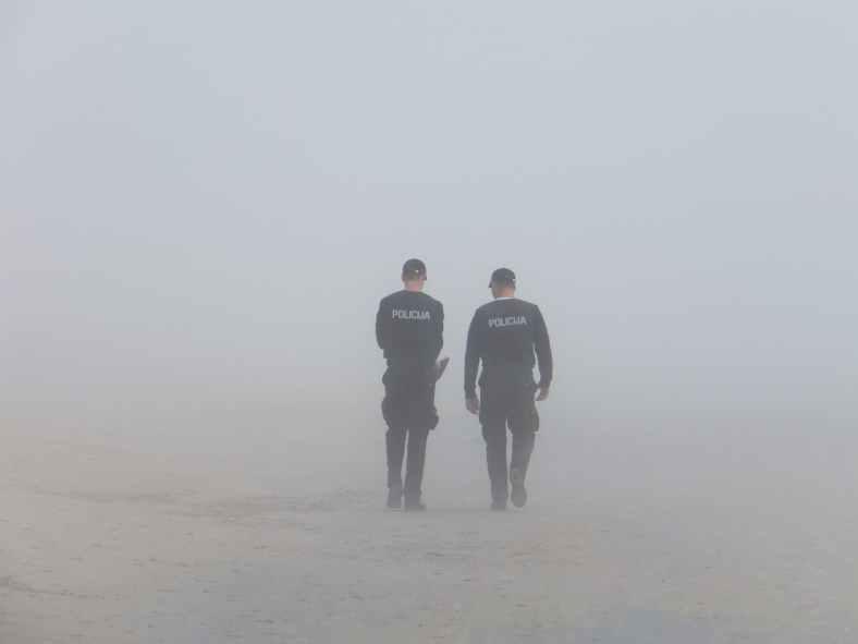 fog police seaside