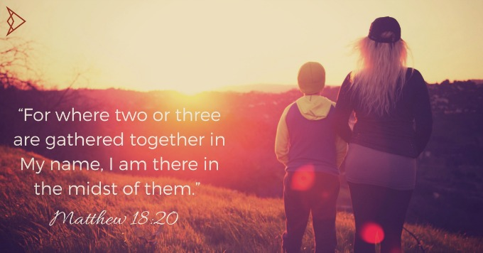 """""""For-where-two-or-three-are-gathered-together-in-My-name-I-am-there-in-the-midst-of-them.""""-Matthew-18-20"""