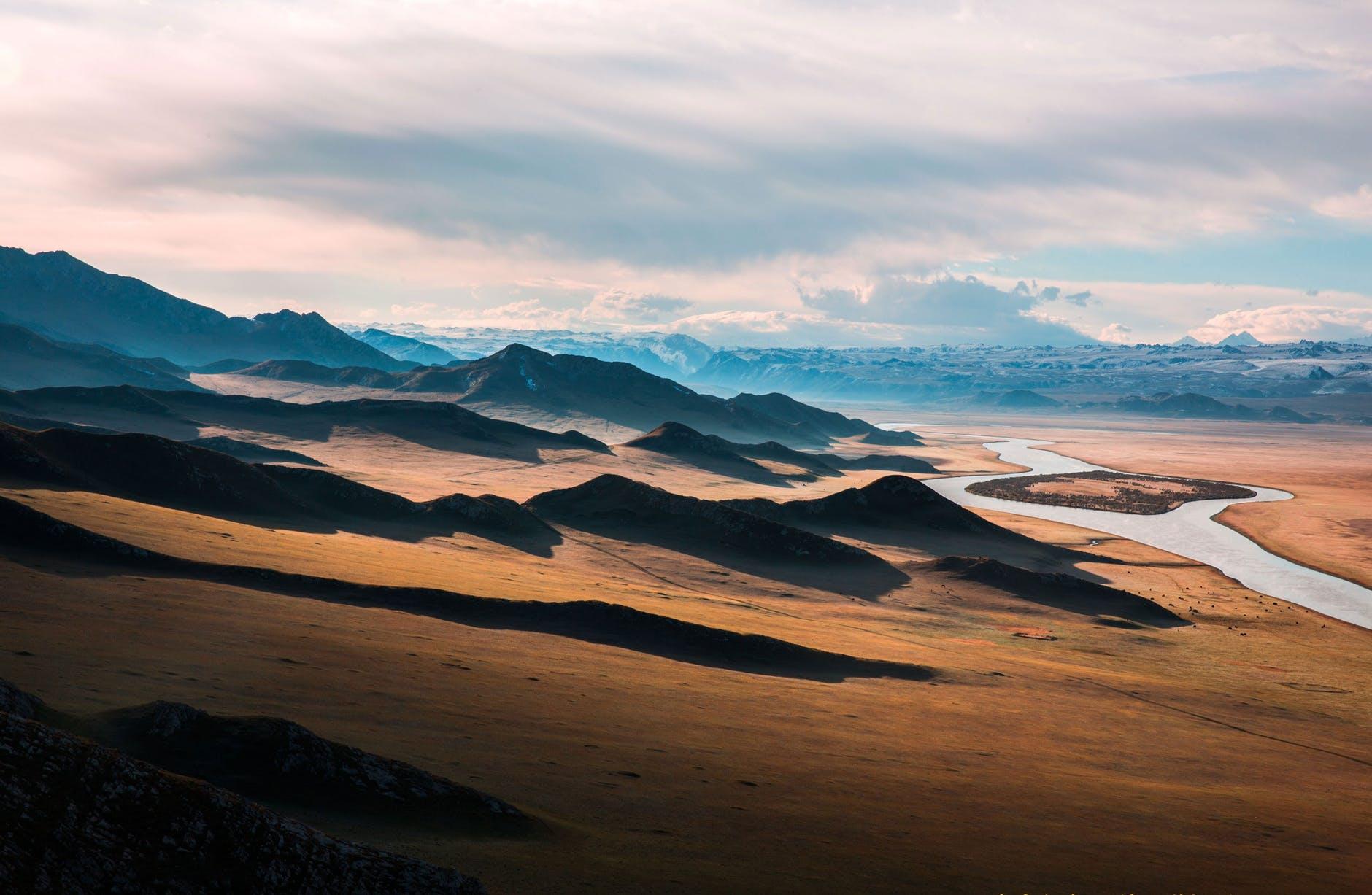 mountain highway prairie the scenery